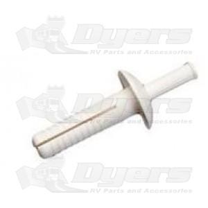 AP Products White Plastic Rivet