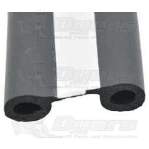 """AP Products 1-1/2"""" x 1/2"""" x 50' EPDM Double Bulb Seal with Tape"""