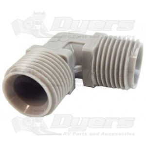 """Zurn 1/2"""" MPT x 1/2"""" MPT Fresh Water 90 Degree Elbow Coupling Fitting"""