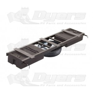 Lippert Components Standard Double Underchassis Storage Container w/ Spare Tire Carrier