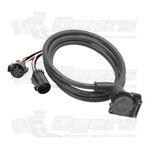 bargman 7 way right angle 5th wheel wiring harness trailer rh dyersonline com 5th wheel wiring harness installation 2012 f350 5th wheel wiring harness for 2012 dodge ram