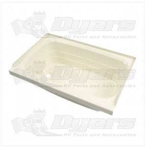 """Lippert Components 36"""" x 24"""" Parchment Left Hand Drain Bath Tub"""