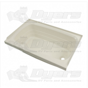 "Lippert Components Better Bath 24"" x 36"" Parchment Right Hand Center Drain Bathtub"
