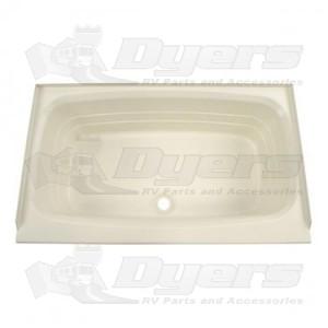 """Lippert Components Better Bath 24"""" x 40"""" Parchment Front Center Drain Bathtub"""