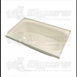 """Lippert Components Better Bath 24"""" x 40"""" Parchment Left Hand Center Drain Bathtub"""