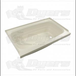 "Lippert Components Better Bath 24"" x 40"" Parchment Right Hand Center Drain Bathtub"