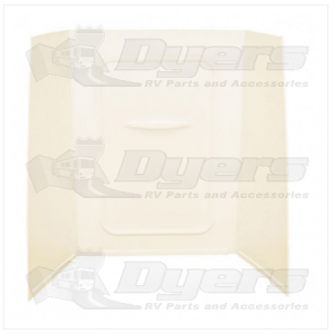 """Lippert Components Better Bath 24"""" x 36"""" x 56"""" Parchment Bath Surround"""