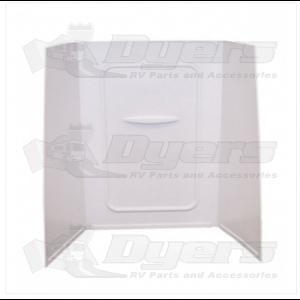 "Lippert Components Better Bath 24"" x 36"" x 62"" White Bath Surround"