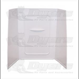 "Lippert Components Better Bath 24"" x 36"" x 59"" White Bath Surround"