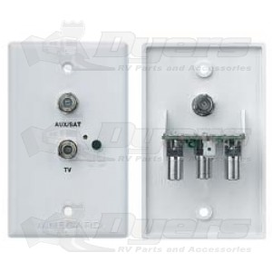 Winegard White TV/Satellite Jack Receptacle