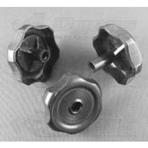 "Strybuc 1/2"" Black Plastic Knob Handle"