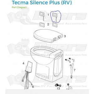Thetford Replacement Flush Control Panel For Tecma Silence