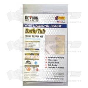 Devcon White & Almond Bath/Tub Repair Kit - Shower Repair ...