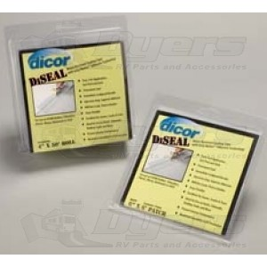 """Dicor 6"""" TPO Patch of White Diseal Water Resistant Sealing Tape"""