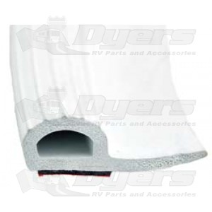"""AP Products 5/8"""" x 1-15/16"""" x 35' White Rubber Slide-Out Seal"""
