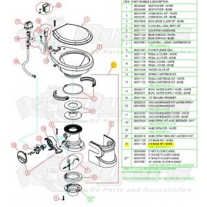 Dometic 510H Bone Toilet Base Kit - Dometic, Sealand & Thetford ...