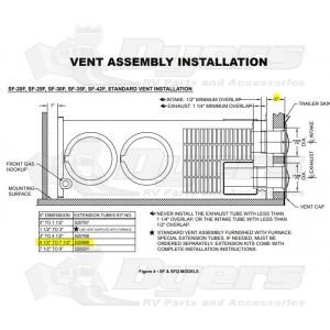 520968a suburban furnace extension vent kit parts & accessories furnaces