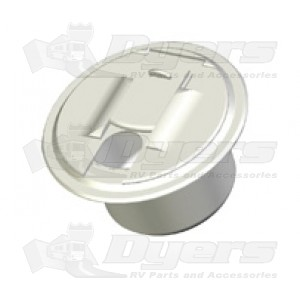 RV Designer Round Hatch- Polar White