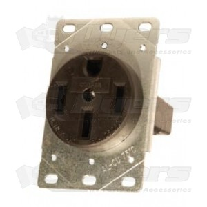 50 Amp 4-Wire Receptacle with Bracket