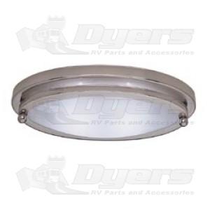Gustafson Satin Nickel 10  Low Profile Oval Light  sc 1 st  Dyers - RV & Gustafson Satin Nickel 10