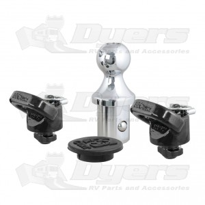 CURT Ram Factory-Style Gooseneck Ball and Safety Chain Anchor Kit