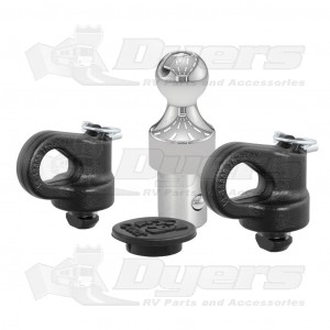 CURT Ford Factory-Style Gooseneck Ball and Safety Chain Anchor Kit