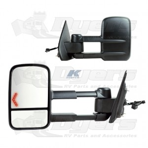 K-Source 2014 to 2015 Silverado/GMC 1500 Extendable Towing Mirrors w/LED Turn Signal