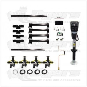 Lippert Components Ground Control® TT One-Touch Electric Leveling System for Travel Trailers