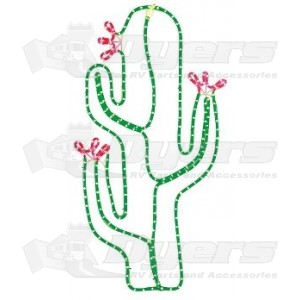 Ming's Decorative LED Rope Light 3ft Green Cactus