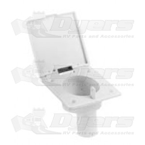 "J&C 1-3/8"" Polar White Water Fill Spout"