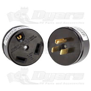 Parallax 30 Amp F to 20 Amp M Adapter Plug