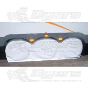"""ADCO Polar White 27""""- 29"""" Triple Axle Tyre Gard"""