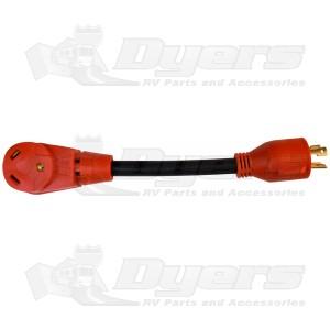 Valterra 30 Amp M 3-Prong Locking to RV 30 Amp F Straight Blade Generator Adapter Cord