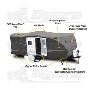 ADCO Designer SFS Aqua Shed Travel Trailer Cover for Trailers 18' - 20'