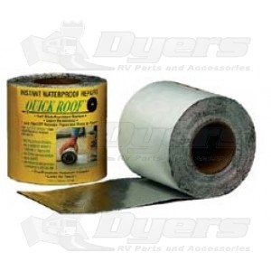 """Quick Roof 6"""" x 25' Aluminum Water Proof Roof Repair"""