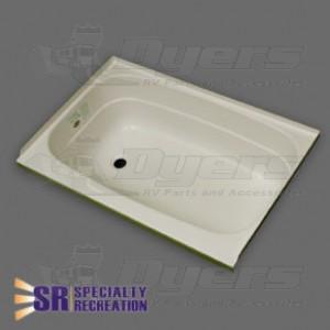 "Specialty Recreation 24"" x 46"" Left Hand Center Drain Parchment Bathtub"