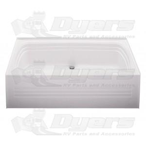 """Bath Tub Center Drain White 30"""" x 60"""""""