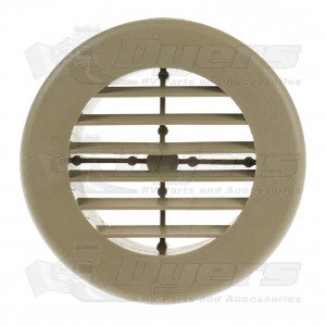 "D&W Dura-Beige 4"" Round Register Outlet Vent W/O Damper"