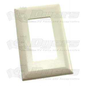Diamond Ivory Plastic Switch/Receptacle Plate 52495