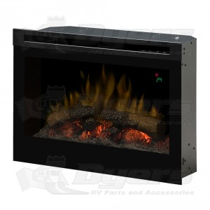 "Dimplex 25"" Plug In LED Electric Fireplace Insert with On Screen Display"