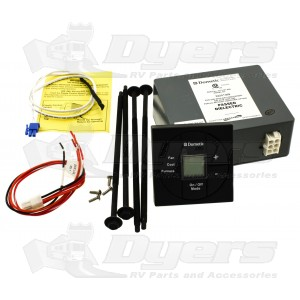 Dometic Black Single Zone Fan/Cool/Furnace LCD Thermostat Control Kit