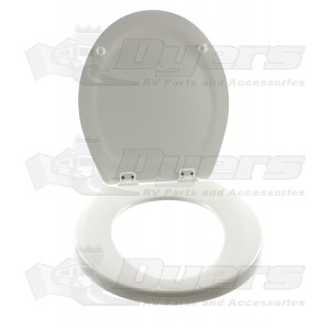 parts of a toilet seat. Dometic Sealand 500  White Toilet Seat Assembly