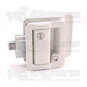 Fastec White Travel Trailer Lock 43610-09-SP