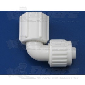 "Flair-It 3/8"" Flare x 1/2"" FPT Swivel Elbow Adapter"