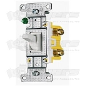 Diamond Toggle Light Switch White