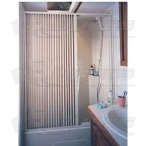 "Irvine 36"" x 57"" Ivory Folding Shower Doors"