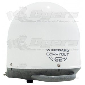Winegard White G2+ with Power Inserter Fully Automatic Portable Satellite