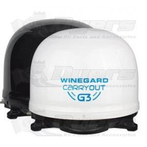 Winegard Carryout G3 Automatic Portable White Satellite Tv