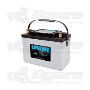 lifeline 12v rv deep cycle 100ah agm battery batteries. Black Bedroom Furniture Sets. Home Design Ideas