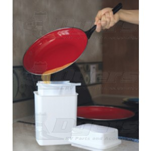Camco Grease Storage Container Kitchen Accessories Indoor Living
